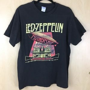 VINTAGE LED ZEPPELIN BLACK  MOTHERSHIP T-SHIRT